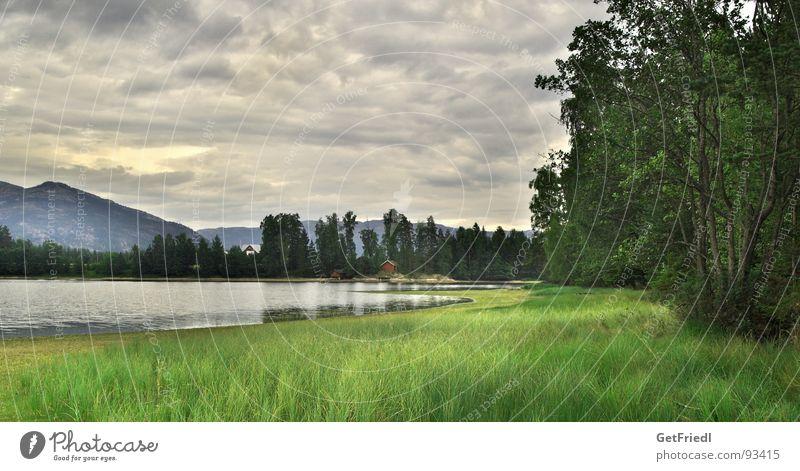 Vrodal Lake Norway Telemark Vacation & Travel Nature Idyll Sky Exterior shot