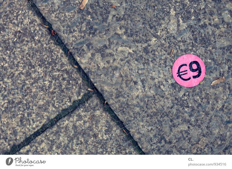Street Lanes & trails Stone Pink Characters Round Ground Shopping Sign Digits and numbers Money Trade Label Save Euro Euro symbol