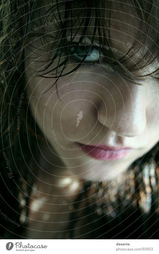 humane look Portrait photograph Woman color teenage face eye latvia Interior shot