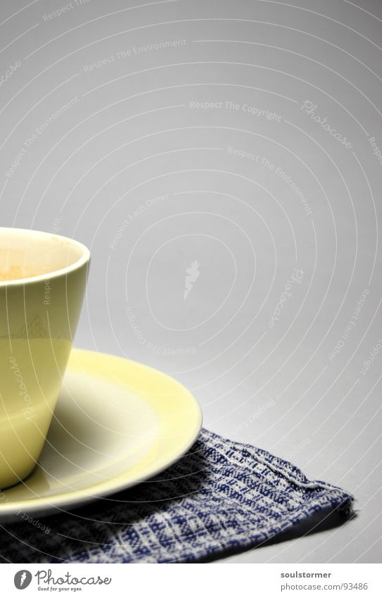 White Blue Black Yellow Beverage Coffee Kitchen Hot Crockery Cup Edge Towel Saucer
