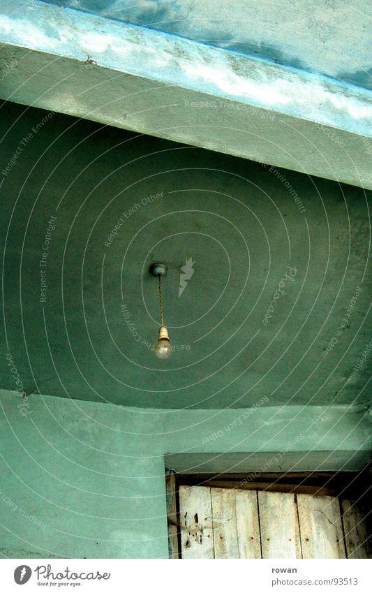 Old Green Door Transience Derelict Turquoise Entrance Electric bulb Lean Opening Front door Wooden door