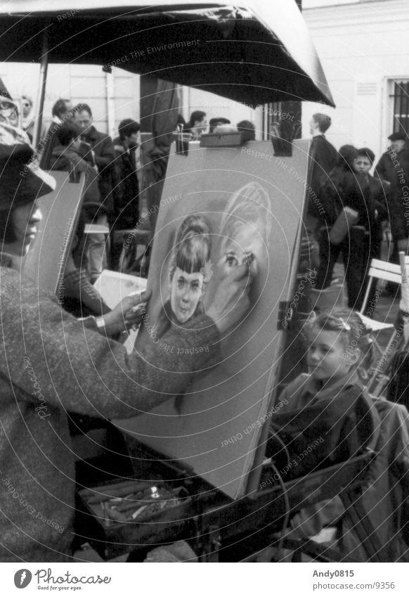 classicART Girl Art Paris France Child Portrait photograph Draw Painting (action, work) Artist Image