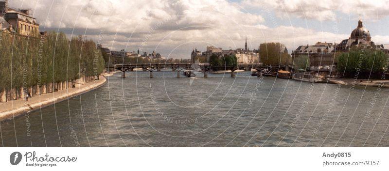 City Large River Paris France Panorama (Format) Seine