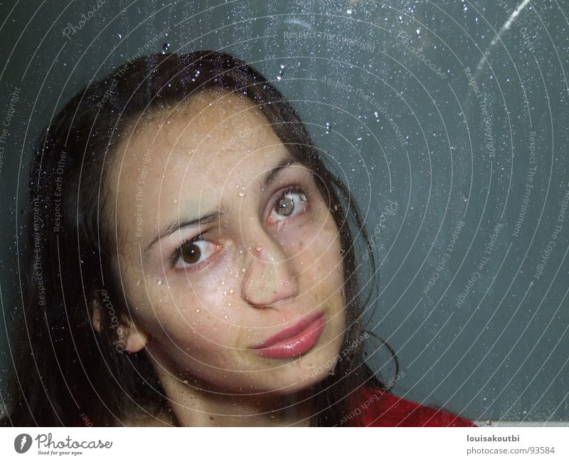 Woman Beautiful Face Funny Nose Grimace Hideous