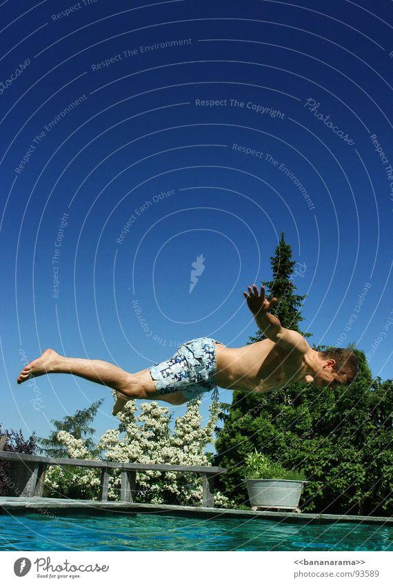 Water Summer Joy Vacation & Travel Jump Flying Swimming pool Hover Banana