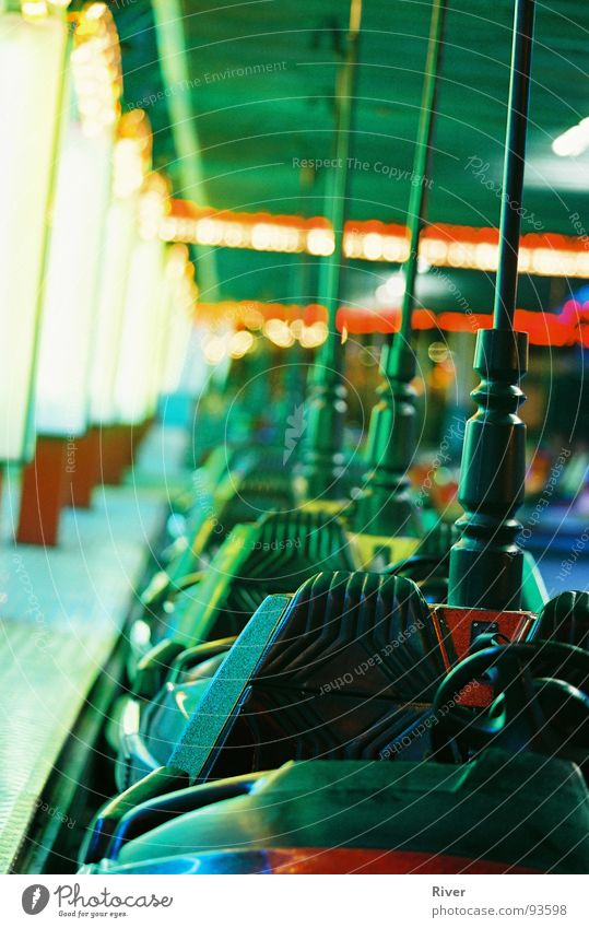 bumper cars Prater Bumper car Multicoloured Night Fairs & Carnivals Entertainment Playing Colour boxing car