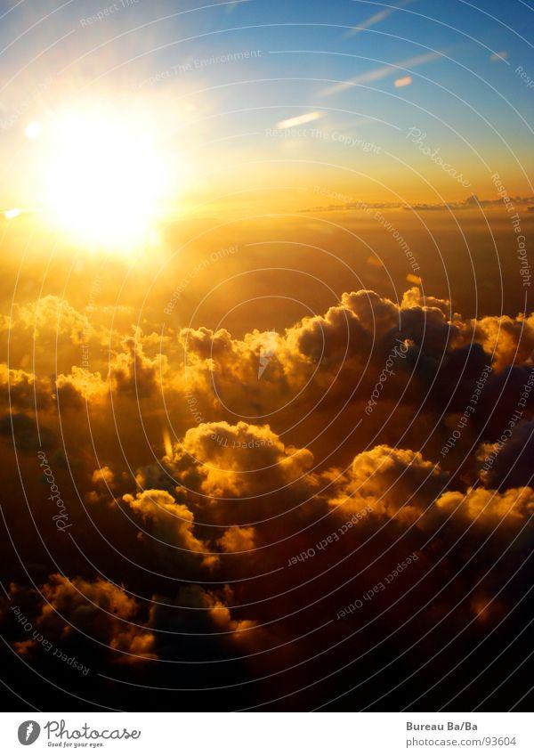 Sky Sun Blue Clouds Freedom Orange Airplane Aviation Infinity