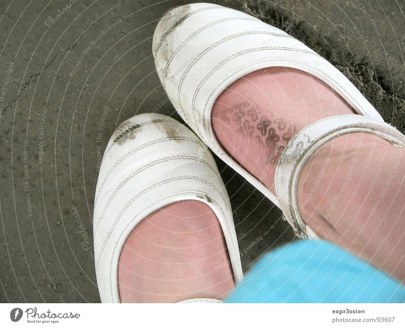 White Feet Dirty Clothing Transience Turquoise Patch Innocent