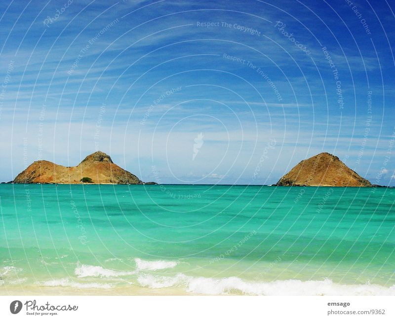 Kailua Bay Beach Ocean Hawaii Oahu Water Island Sky