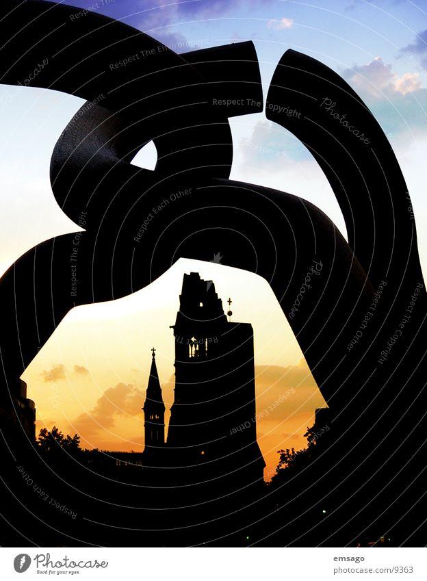 My city awakens Sunrise Sunset Architecture Berlin Gedächnisskirche Sky Religion and faith Shadow