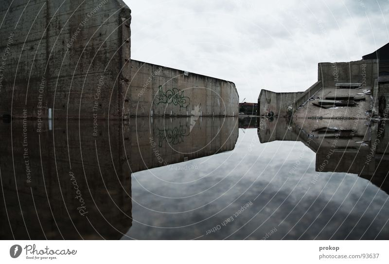 Sky Water City Clouds Loneliness Berlin Sadness Rain Watercraft Ice Power Concrete Crazy Grief Corner