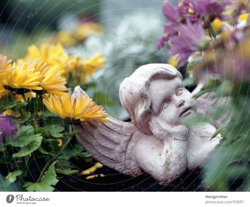 Death Sleep Angel Kitsch Transience Cemetery Grave Fishing rod