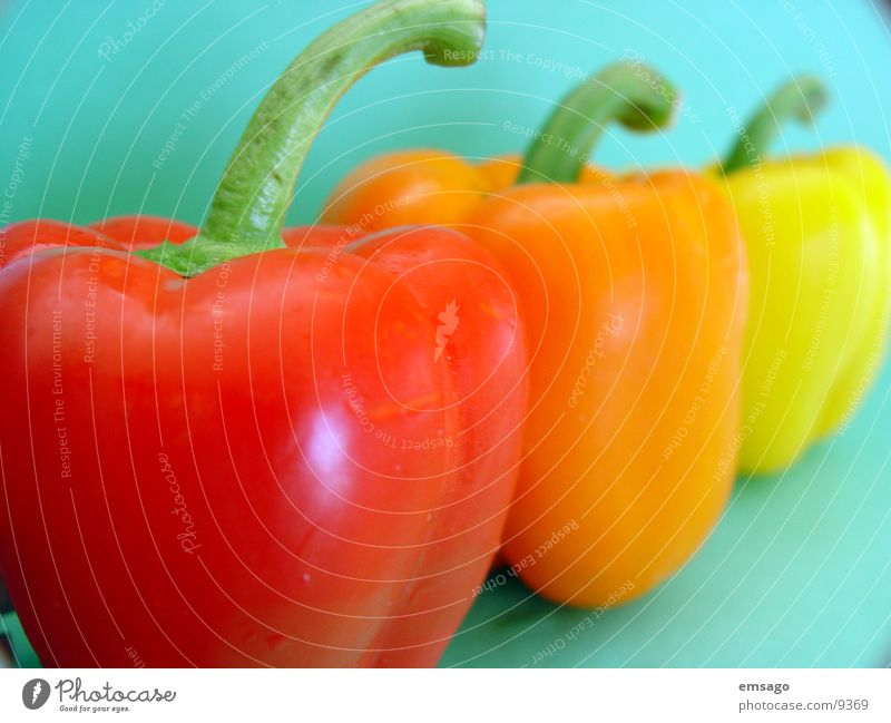 Red Yellow Orange Healthy Stalk Vegetable Pepper