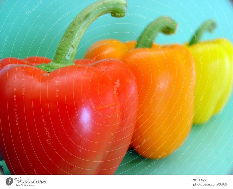 Red Yellow Orange Healthy Stalk Vegetable Pepper