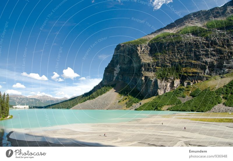 Lake Louise Nature Landscape Beautiful weather Banff National Park Canada Americas Relaxation Vacation & Travel Rockies Rocky Mountains Colour photo