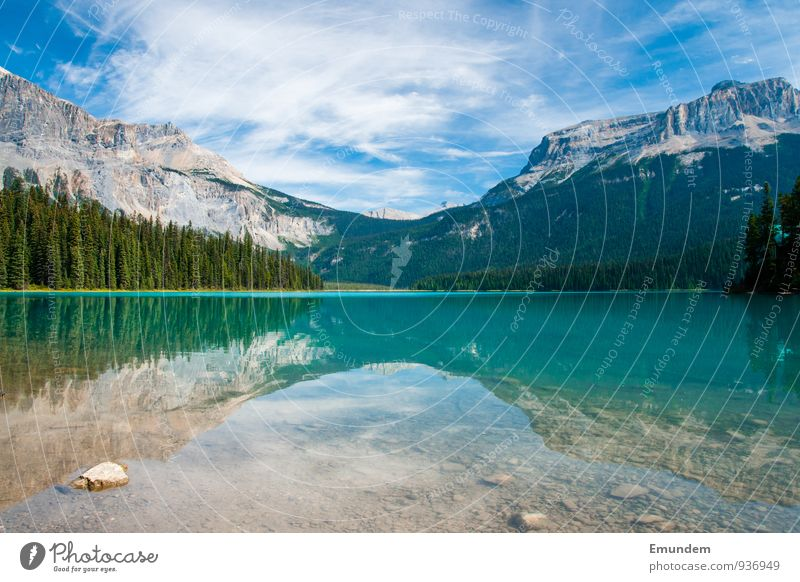 Emerald Lake Relaxation Summer Mountain Hiking Nature Landscape Lake Emerald Break Alberta golden hour Canada Rockies Rocky Mountains Untouched Natural