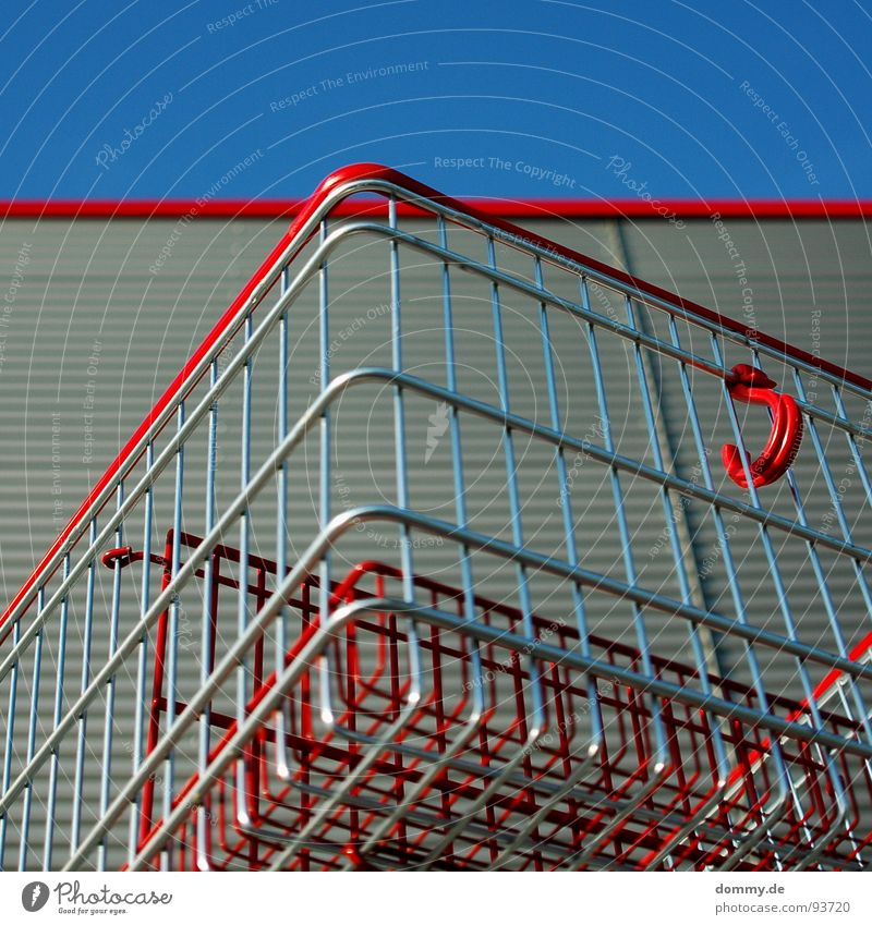 Red Colour Round Craft (trade) Tin Sharp-edged Rod Aluminium Shopping Trolley Chrome Bend Mince Corrugated sheet iron