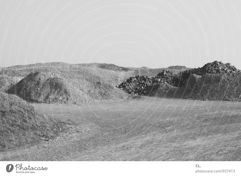 sand Environment Nature Landscape Earth Sand Cloudless sky Hill Calm Far-off places Black & white photo Exterior shot Deserted Copy Space top Copy Space bottom