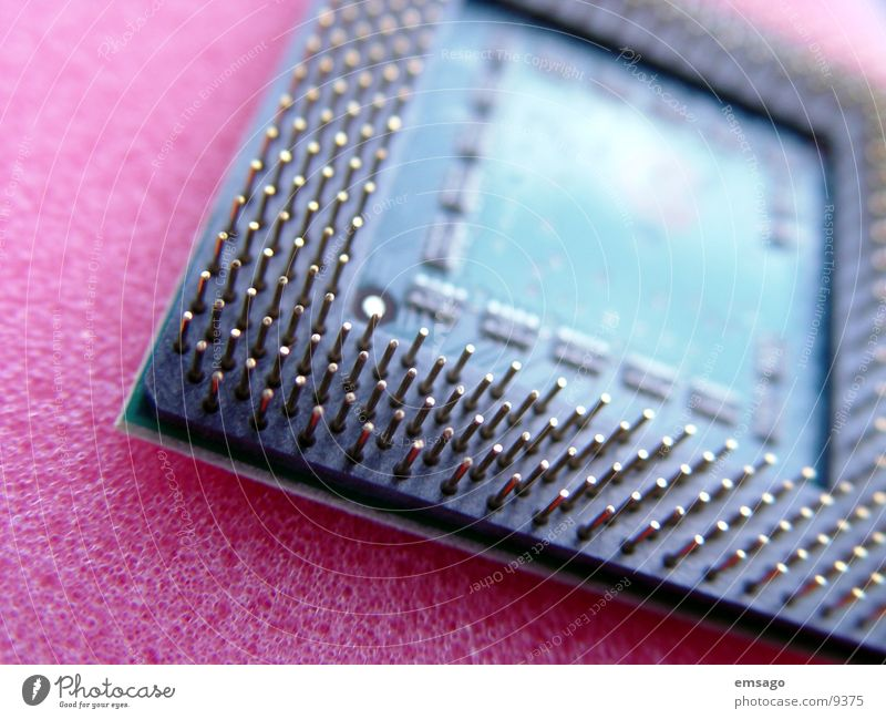 PC chip Microchip Macro (Extreme close-up) Computer Electrical equipment Technology blur