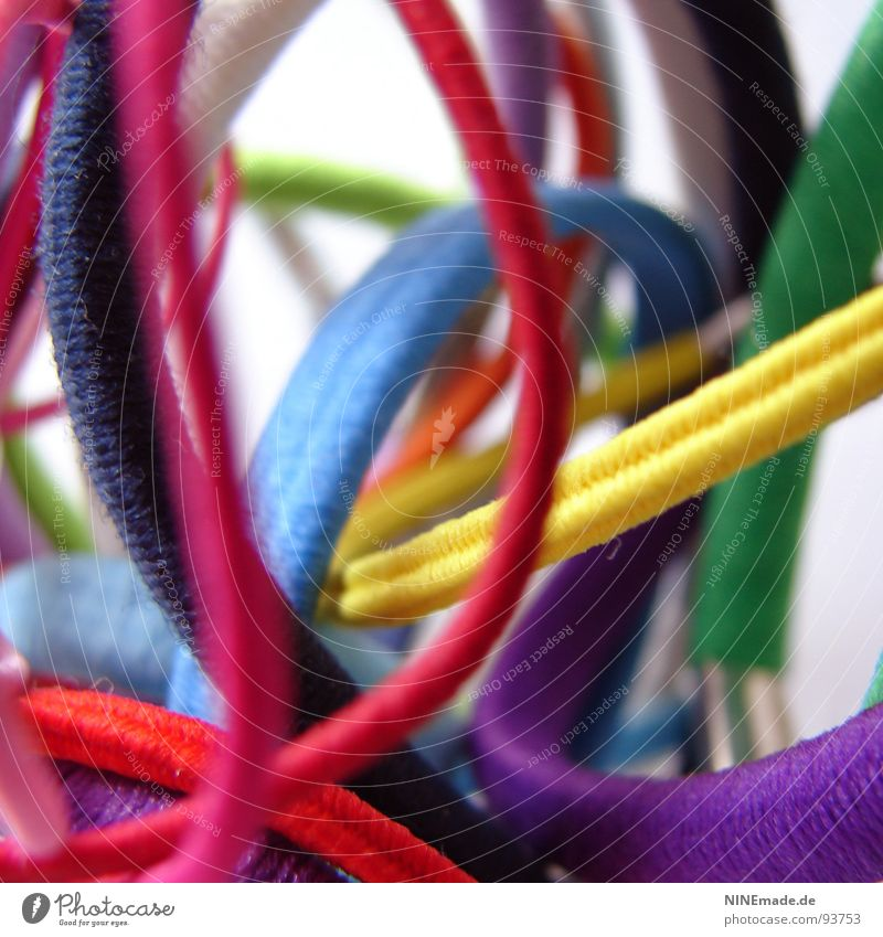 Blue Green White Red Yellow Funny Pink Orange Multiple Things Electricity Rope Round Cable Bathroom Violet