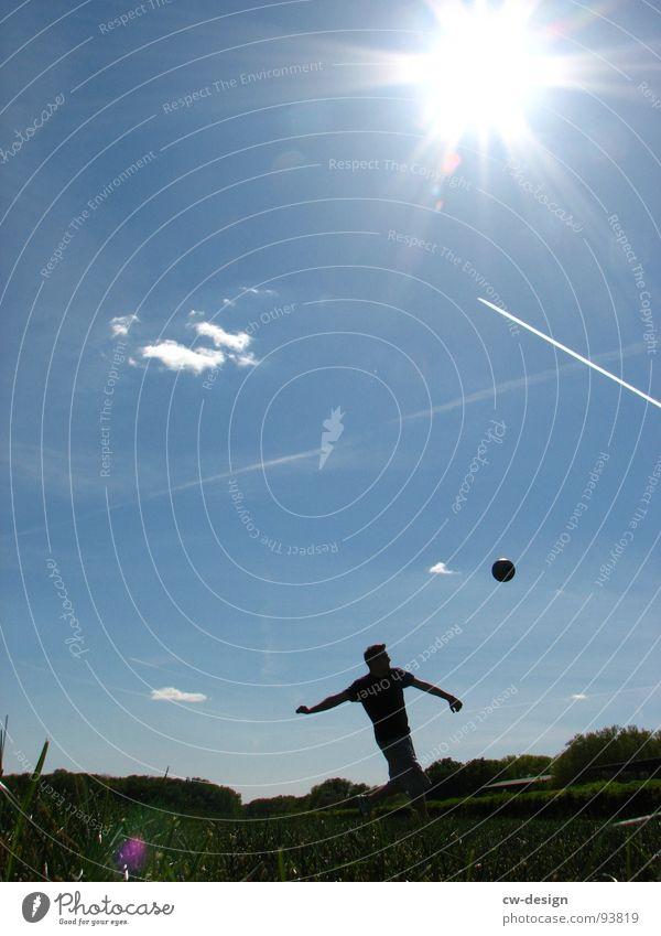 Sky Blue White Green Tree Sun Summer Flower Joy Clouds Eyes Death Meadow Sports Warmth Playing