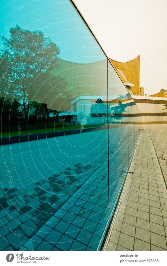 Wall (building) Architecture Building Berlin Germany Facade Glass Culture Clarity Monument Transparent Landmark Window pane Slice Pane Berlin Philharmonic