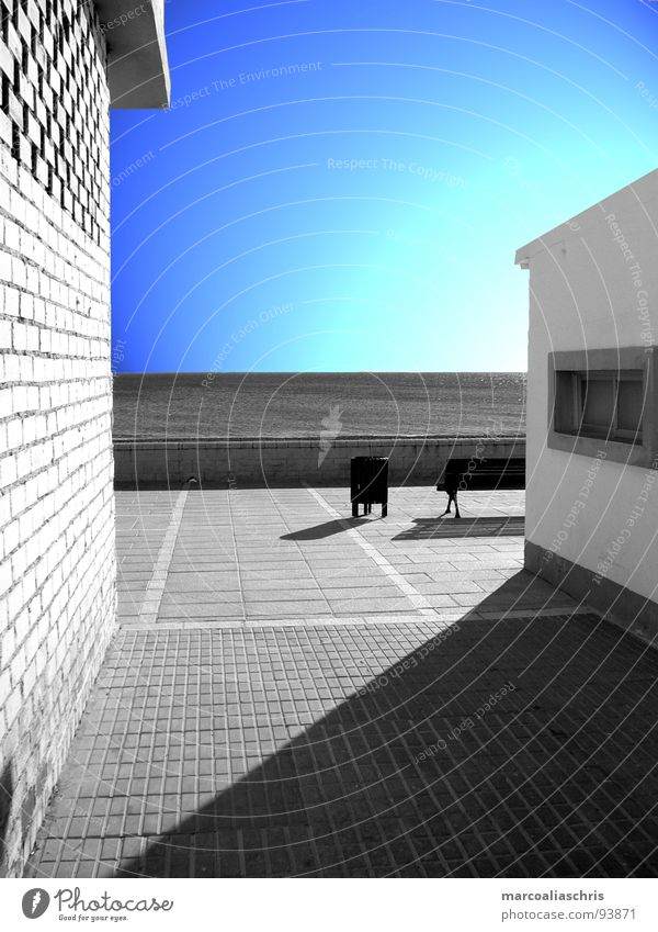 marbella times different 1 Art Building Ocean Promenade Light Black White Design Wall (building) Architecture Shadow Blue