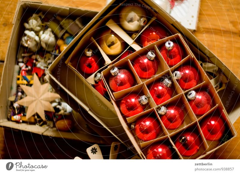Christmas8 stuff Christmas & Advent Decoration Anti-Christmas Christmas decoration Winter Sphere Glitter Ball Cardboard Packaging Glass blown Tradition Old