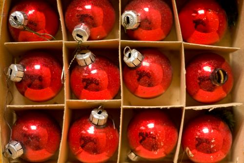 12/12 Christmas & Advent Decoration Anti-Christmas Christmas decoration Winter Sphere Glitter Ball Cardboard Packaging Glass blown Tradition Old Ancient Colour