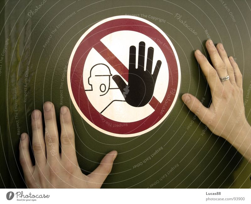 Hand Fear Dangerous Future End Threat Stop Touch Curiosity Pain Brave Opinion Watchfulness Intellect Respect Bans