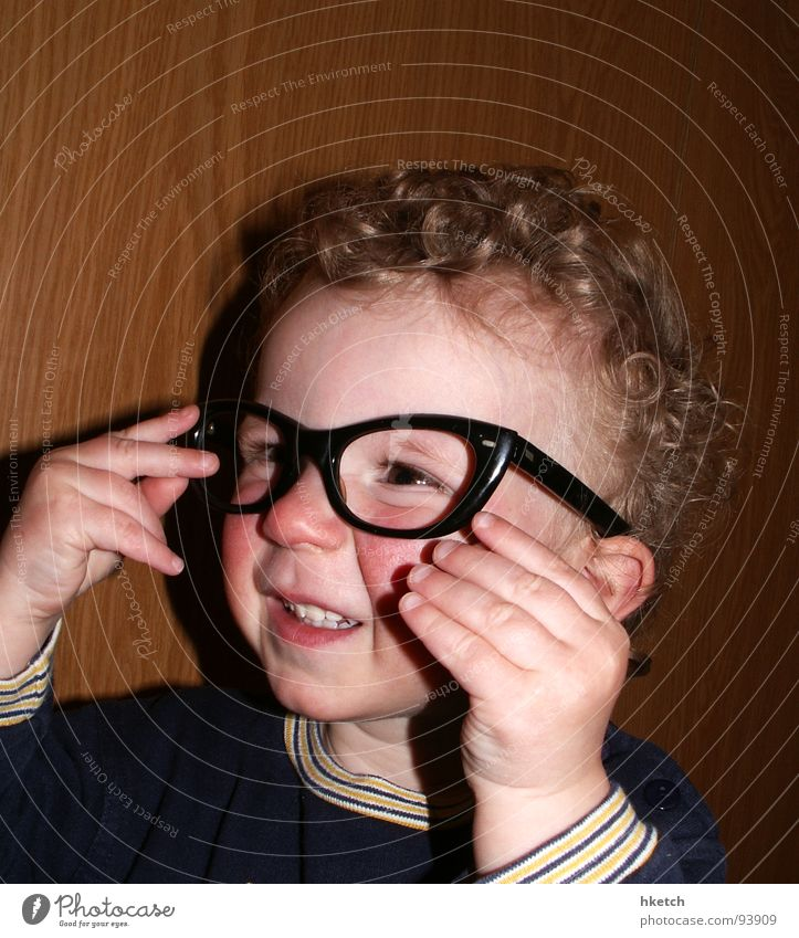 Child Face Eyes Funny Eyeglasses Observe Curiosity Concentrate Toddler Curl Snapshot Interest Smart Vista Alert Person wearing glasses