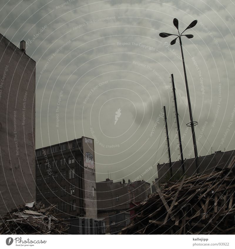 Berlin Window Architecture Germany Poverty Facade Stairs New Gloomy Vantage point Construction site Trash Arrow Lantern Universe