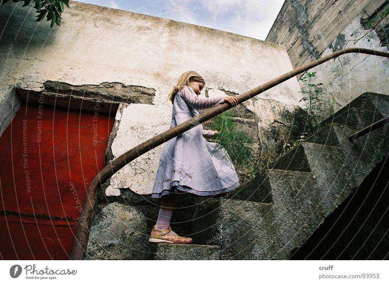 Door Stairs Dress Derelict Mysterious Ruin Insolvency