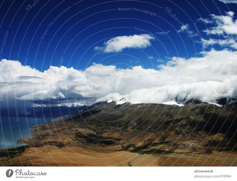 Water Sky White Blue Clouds Mountain Lake Moody Brown Field India Mountaineering
