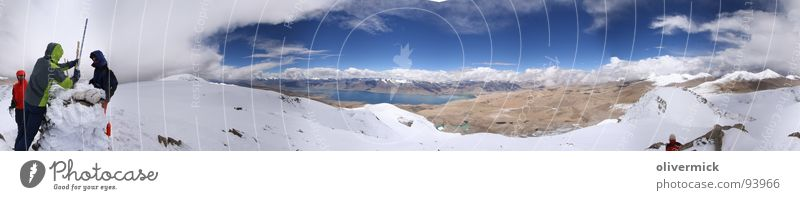 Sky Blue Clouds Snow Moody Large Level Vantage point Peak India Panorama (Format) Mountaineer