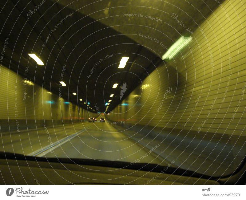 Dark Car Hamburg Speed Driving Tunnel Snapshot Windscreen St Pauli-Elbtunnel