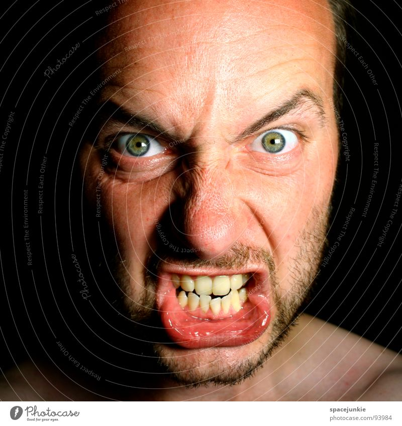 Human being Face Fear Anger Evil Panic Freak Aggravation Aggression Redneck Heartless Beast Unfair Tough guy Choleric Person