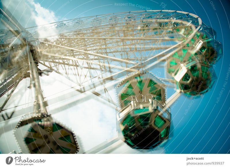 double pirouette Joy Fairs & Carnivals Ferris wheel Round Semicircle Rotate Original Warmth Enthusiasm Speed Ease Nostalgia Perspective Time Rotation