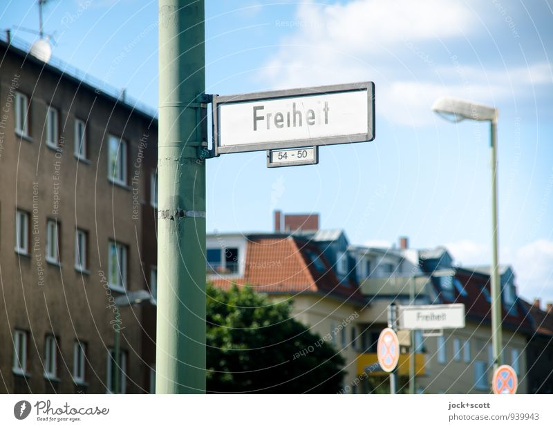 Sky City Summer Clouds House (Residential Structure) Lanes & trails Berlin Freedom Time Above Facade Authentic Trip Signage Idea Retro
