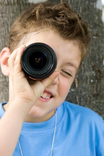 Boy (child) Think Horizon Success Perspective Technology Smiling Observe Study Idea Reading Curiosity Mysterious Education Camera Discover