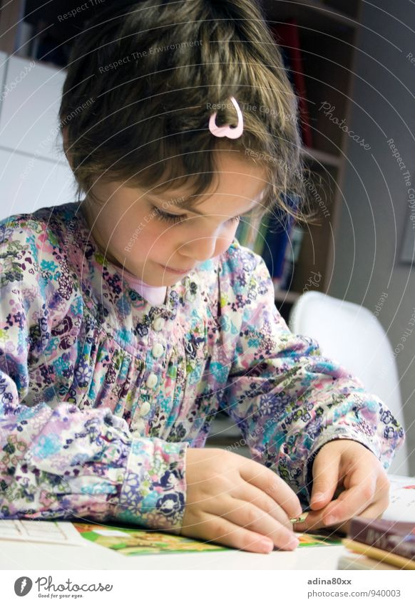 Girl Think School Infancy Success Future Study Idea Curiosity Education Write Discover Concentrate Science & Research Watchfulness Handicraft