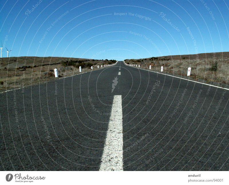 Beautiful Sky Loneliness Street Lamp Freedom Lanes & trails Horizon Target Infinity