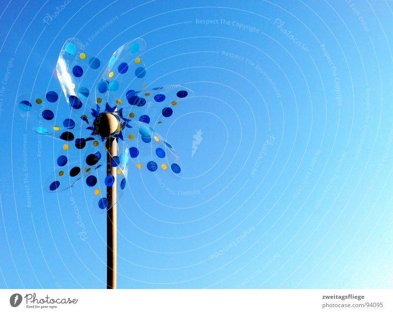 wind is in the air... Air Breeze Leisure and hobbies Ease Toys Wind Sky Wind energy plant Blue Point Movement Dynamics
