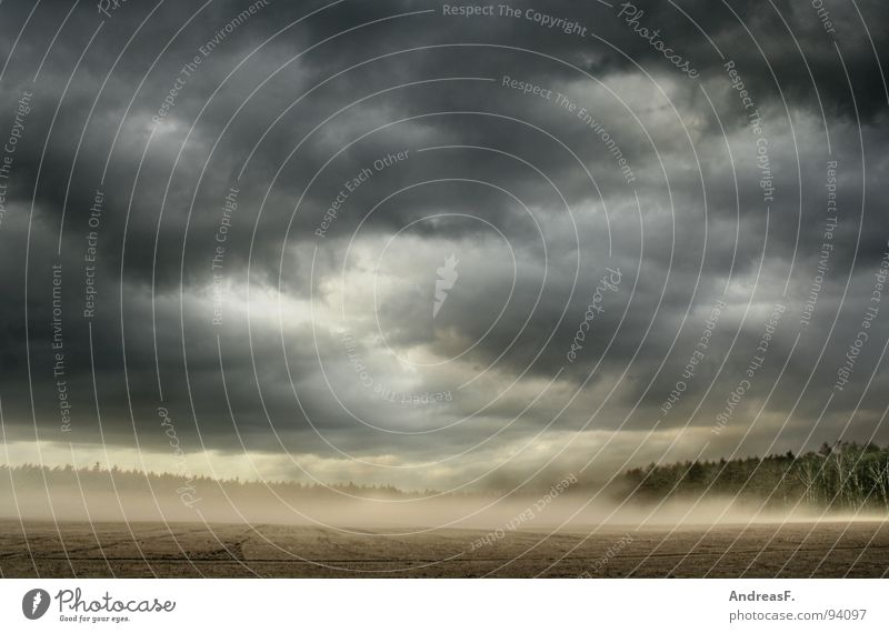 Sky Summer Clouds Dark Landscape Sand Rain Weather Field Wind Earth Fear Dirty Gale Storm Americas