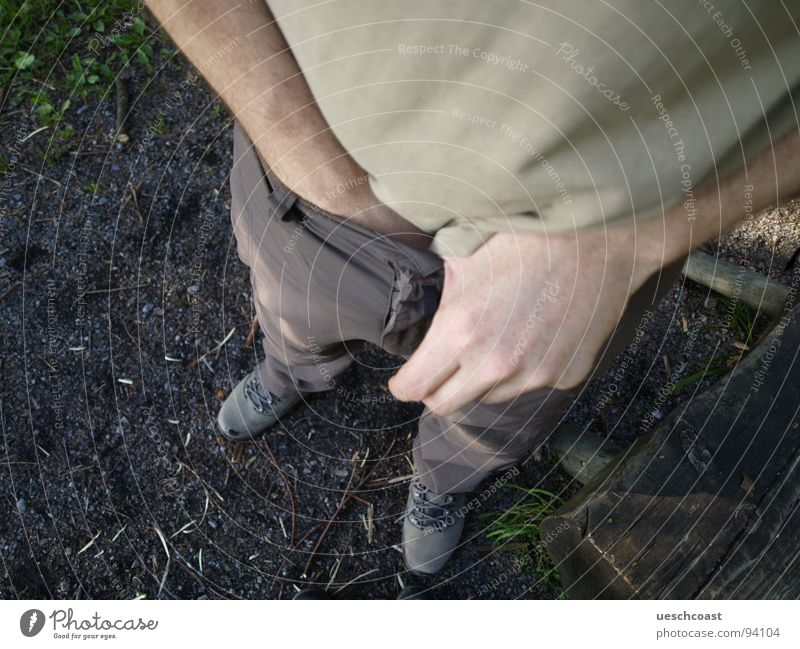 Hand Feet Brown Earth Footwear Dirty Hiking T-shirt Concentrate Pants Craft (trade) Egg Tails Sack Normal Woodground