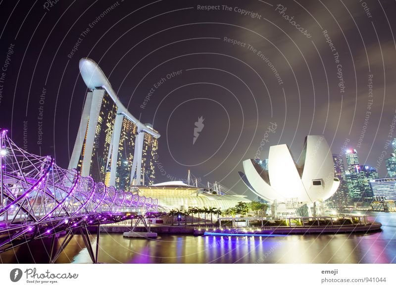Singapore Town Capital city Downtown High-rise Bridge Manmade structures Architecture Tourist Attraction Exceptional Famousness Famous building Modern Luxury