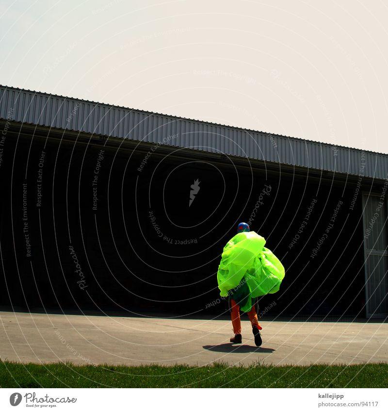 Sky Man Hand Joy Meadow Sports Jump Legs Horizon Field Flying Dangerous Airport Skydiving Beetle Practice