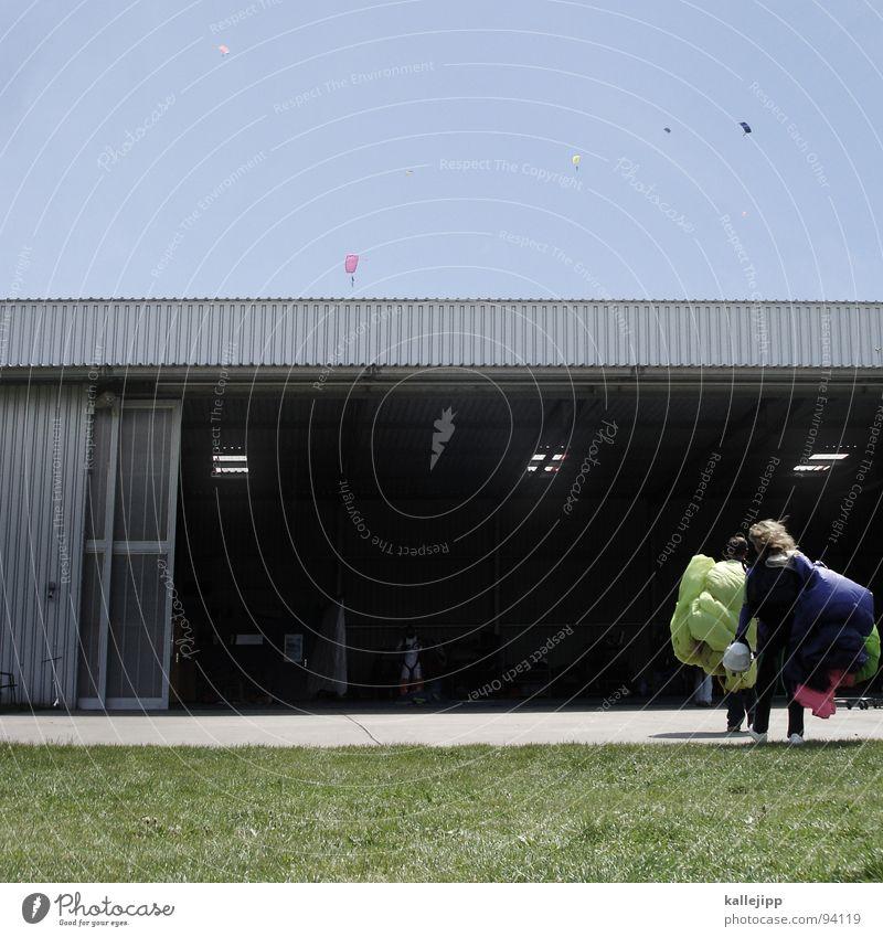 Sky Man Hand Joy Meadow Sports Jump Legs Horizon Field Flying Dangerous Airport Beetle Skydiving Practice