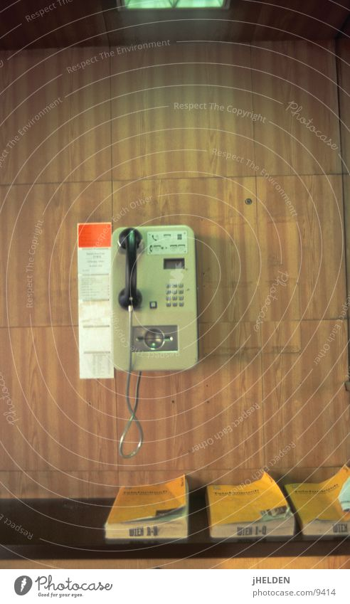 Wood Brown Telephone Open Telecommunications Austria Vienna Old-school Wood flour Emotion design Payphone