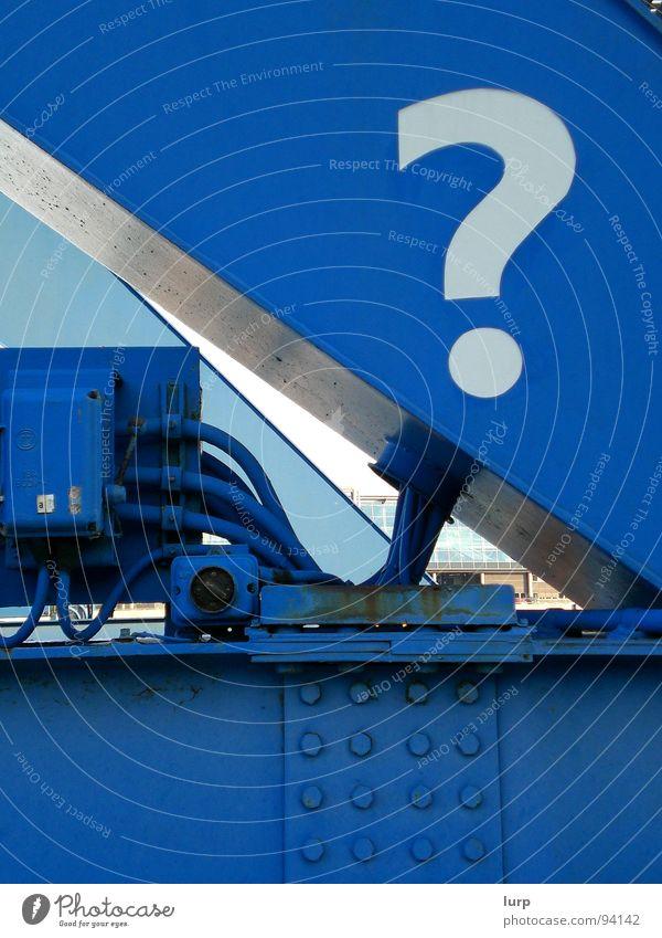 Sky White Blue Joy Metal Technology Steel Rust What Ask Know Unclear Kiel How Rivet Question mark